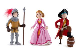 Chevalier, princesse et pirate en pâte polymère