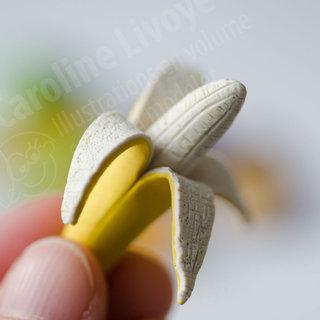 banane en pâte à modeler