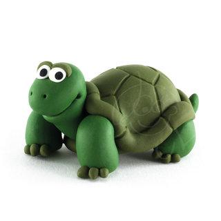 > Une tortue en pâte à modeler