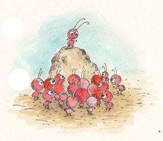 des fourmis!!! tre€s rouge