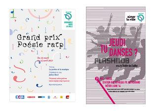 RATP - Concours poésie & Jeudi Danse (projets)