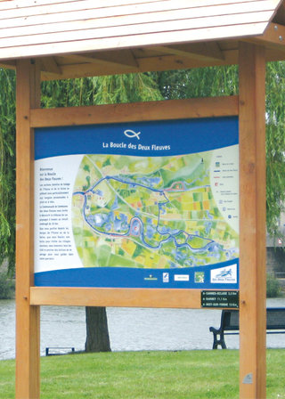 ONF - panneau d'accueil Boucle des 2 fleuves