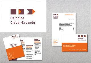 Delphine Clavel-Escande - Logotype et papeterie commerciale