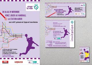 RATP - Supports de communication du Hanball Park 2013