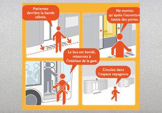 RATP - Règles d'usage de la gare bus de La Défense