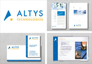 Altys Technologies - Logotype, charte, papeterie commerciale
