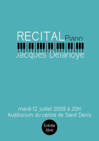affiche récital piano