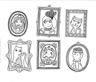 dessin cahier magique, Princes et Princesses