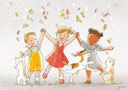 Illustration pour carte de voeux jeunesse