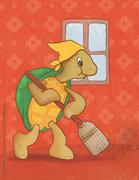 """Bonjour tortue !"""