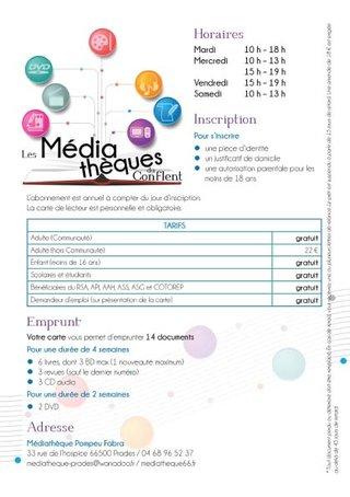 Verso flyer Médiathèque Prades