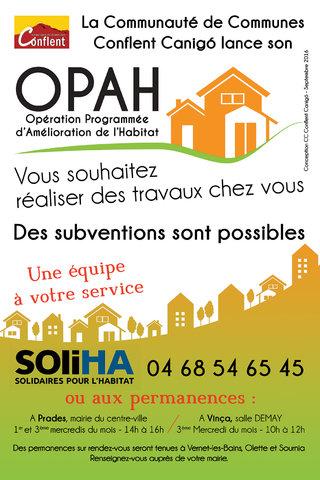 Affiche sucette OPAH