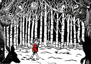 Fille en forêt