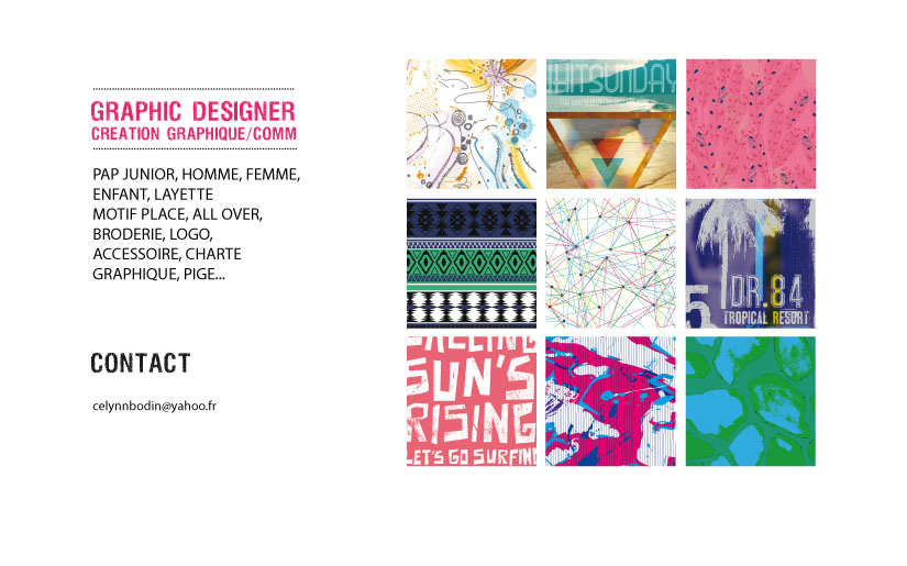 Assez Céline Bodin Graphiste Textile Ultra-book ST67