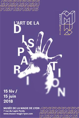 """affiche """"disparition"""" Musée de la magie"""