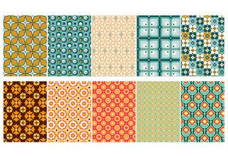 Decorativ' // CLAIREFONTAINE (Papier A4 à découper pour de la carterie ou du scrapbooking : Création de deux assortiments de 5 motifs aux coloris tendances dans l'esprit Seventies)