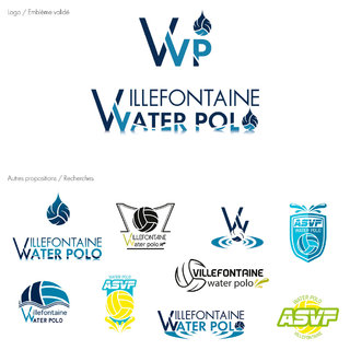 Création du logo du club de water polo de Villefontaine + Recherche
