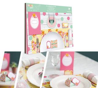 Bloc de décoration de table - Motifs et conception intégrale du produit.