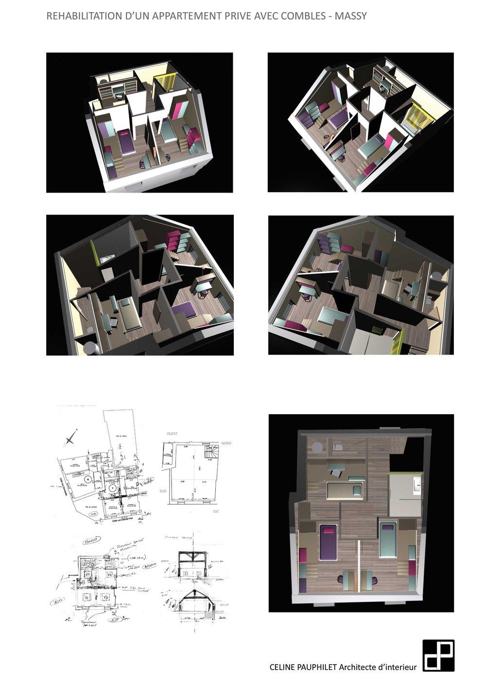 REHABILITATION LOGEMENT PRIVE Massy   Projet 2012 13