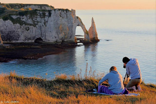Falaise de Etretat Normandie