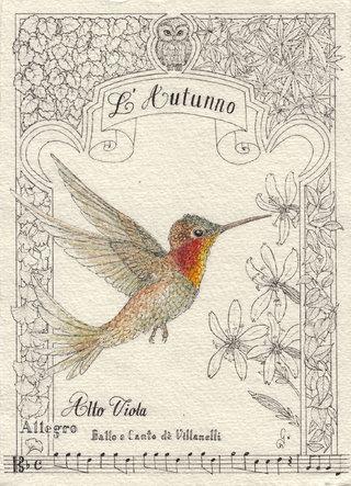 4 Saisons des colibris : L'Autunno