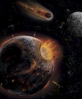 La formation du système solaire (détail de la fresque)