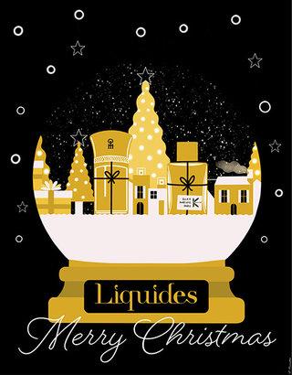 Liquides fête Noël au Bon Marché