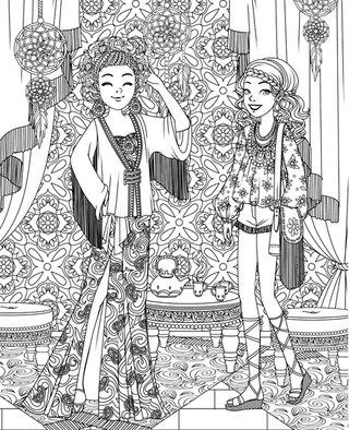 Mes Top-Modèles à habiller - Editions Grund - Hippies chic