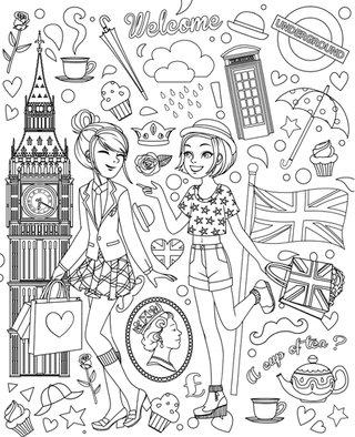 Mes Top-Modèles à habiller - Editions Grund - Swinging London !