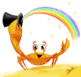 Rainbow Crab - Illustration personnelle