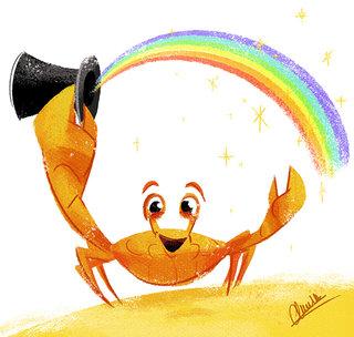 Rainbow Crab - Illustration personnelle