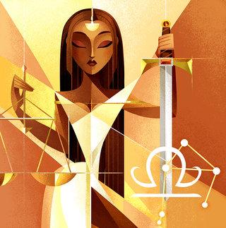 Signe astrologique Balance - Illustration personnelle