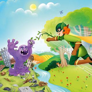 Illustration de boîte SuperNat' contre Maxibeurk - Edité chez Bioviva