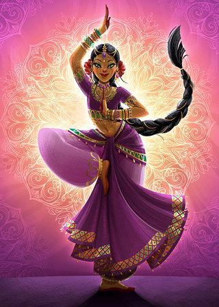 Danseuse Indienne - Illustration Personelle