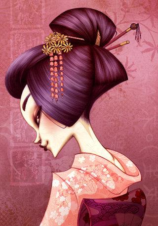 Hanamachi - Illustration personnelle
