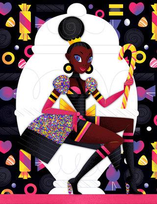 Reine Réglisse - Illustration personnelle