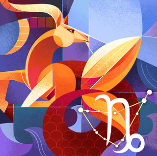 Capricorne -  Série horoscope, illustration personnelle
