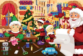 Carte à pailleter Noel pour Playbac