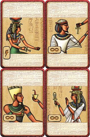 Illustration de cartes pour le jeu Pharaon