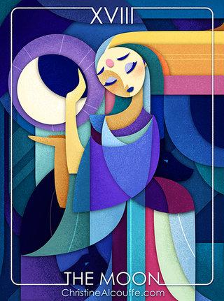 Illustration The Moon pour le Character Design Challenge