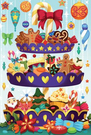 Cartes à Pailleter Noel Pour Playbac