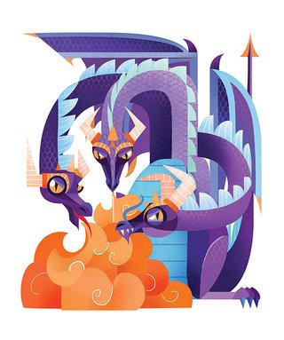 Dragon- Illustration personnelle - Technique numérique