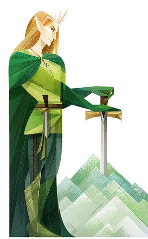 Elfe - Illustration personnelle