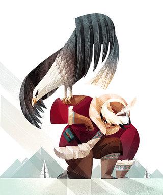 Chasseur Mongol - Illustration personnelle