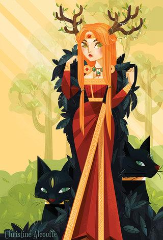Freyja - Illustration personnelle