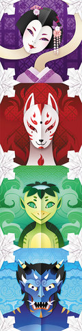 Illustrations pour le jeu Yokai