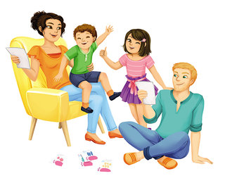 """Illustration des coffrets """"J'aide mon enfant à..."""", publié par Bioviva"""