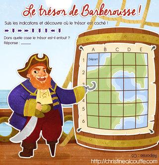 Le trésor de Barberousse - Illustration personnelle