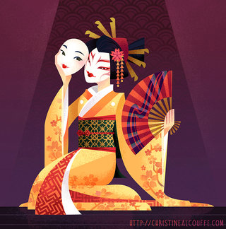 Kabuki - Illustration personnelle