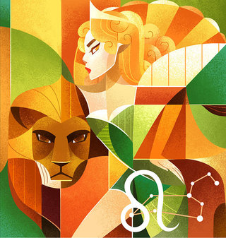 Horoscope : Lion Illustration Personnelle